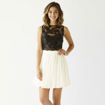 Be Smart Sleeveless Sequin-Bodice Chiffon-Skirt 2-pc. Party Dress