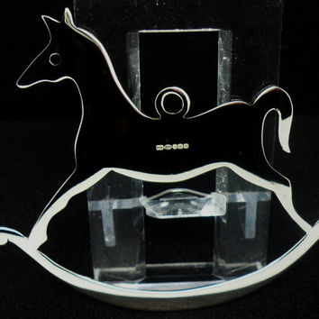 Silver Xmas Tree Decoration, Sterling, Rocking Horse, Christmas, Festive, Ornament, Scottish, NEW, Hallmarked
