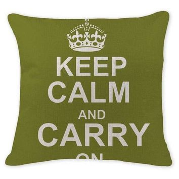 Keep Calm and Carry On - Olive Green