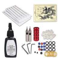 Tattoo Kit Dragonhawk Tattoo Machine Power Supply 6 Immortal Inks