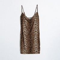 Spaghetti Strap Leopard Print Sexy One Piece Dress [138758881295]