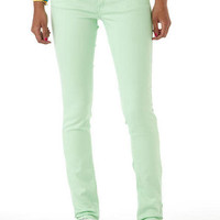Olivia Fresh Green Low-Rise Color Jegging