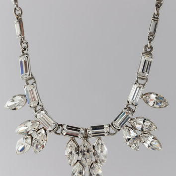 Ben Amun  Crystal and Baguette Teardrop Necklace