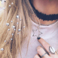 Crown and Glory Becky Star Hair Charms