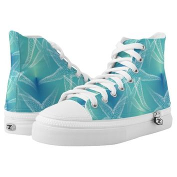 Starfish Blue Green Beach Shoes Printed Shoes