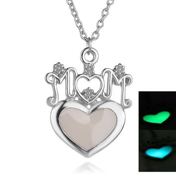 Glow In The Dark Mom Necklace