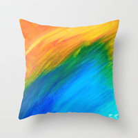 Field of Dreams Throw Pillow by Sierra Christy Art