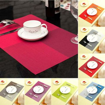 Fashion PVC Dining Table Placemat Kitchen Tool Tableware Pad Coaster Coffee Tea Place Mat