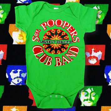 Beatles Shirt, Sergeant Peppers, Sgt. Poopers Lonely Hearts Club Band Infant Bodysuit, Beatles Baby Shirt, Beatles Fan Shirt, Applecopter