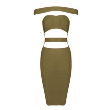 Francesca Bandage Dress Olive