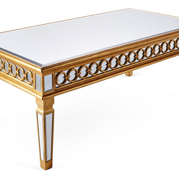 Audrey Coffee Table, Gold, Cocktail Table