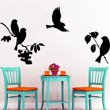 Bird Wall Decals Tree Stickers Vinyl Decal Baby Nursery Bedroom Home Decor LM70