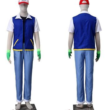 Pocket Monsters Ash Katchum Suit Cosplay Costume  Cosplay Costumes full setKawaii Pokemon go  AT_89_9