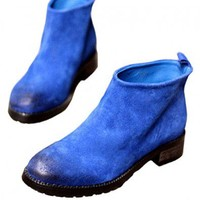 Blue Vintage Boots with Oxihide