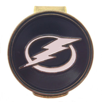 Tampa Bay Lightning Golfers Hat Clip with Golf Ball Marker