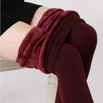 New Women winter Thickening Fur woolen Warm Leggings