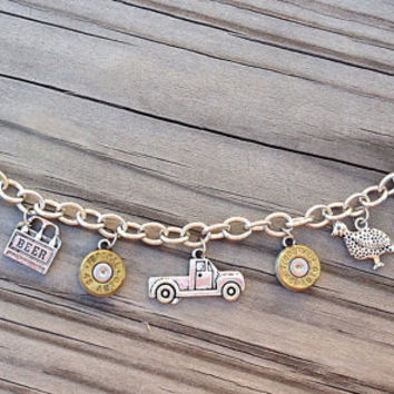 Bullet jewelry. Country charm bracelet.