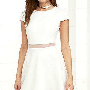Legendary Lovers White Skater Dress