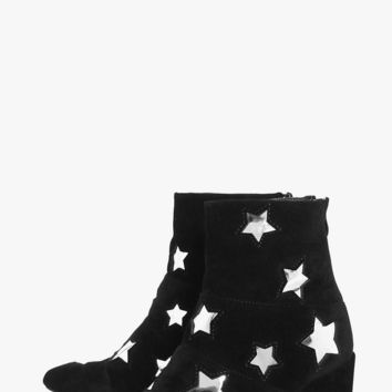 Frances Star Detail Block Heel Boot | Boohoo