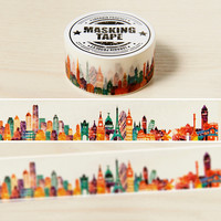 2cm*10m Gorgeous Town washi tape DIY decoration scrapbooking planner masking tape adhesive tape kawaii stationery