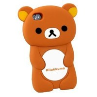3d Brown Rilakkuma Bear Silicon Case Cover for Iphone 4 4s 4g