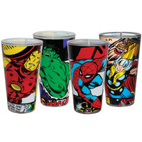 Marvel Heroes - Comic Panels Four Pack Pint Set
