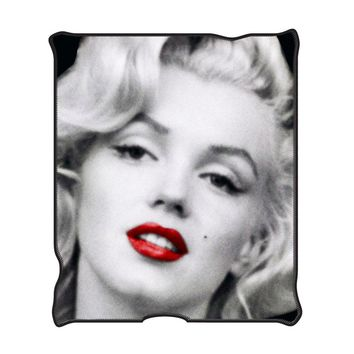 Marilyn Monroe MR1621 Red Lips Fleece Throw Blanket 50 x 60""