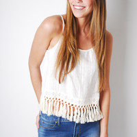 Feelin' Fringy Tank Top