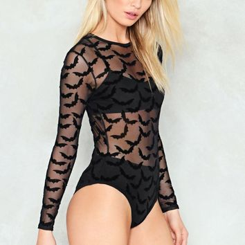 Bat Your Lashes Sheer Bodysuit