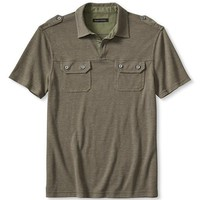 Banana Republic Mens Vintage Military Polo