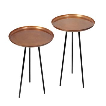 Martin Side Table Black Set Of Two