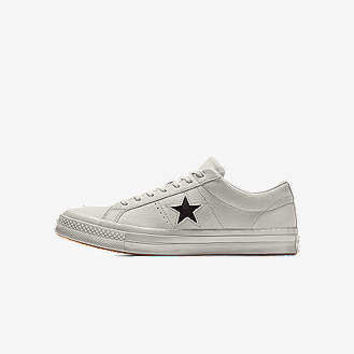 The Converse Custom One Star Suede Low Top Shoe.