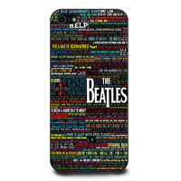 the beatles typography song lyric iPhone 5 | 5s Case