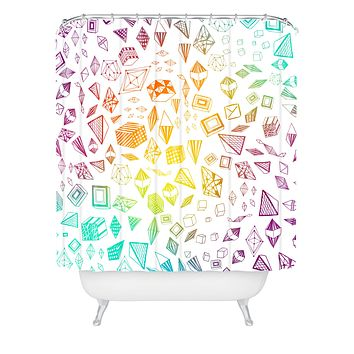 Iveta Abolina Colorful Crystals Shower Curtain