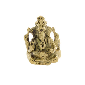 Gold Tibetan Ganesha Ring