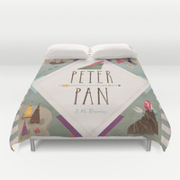 Peter Pan Duvet Cover by Emilydove