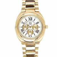 Gold tone roman numeral bracelet watch - watches - women