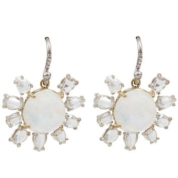 Irene Neuwirth rainbow moonstone earring