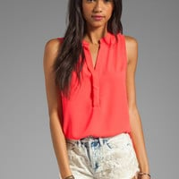 Eight Sixty Sleeveless Tank in Neon Coral from REVOLVEclothing.com