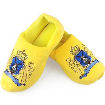 Novelty Clog Fluffy Dutch Coat of Arms Slippers