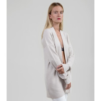 Long Merino Cardigan - Ivory