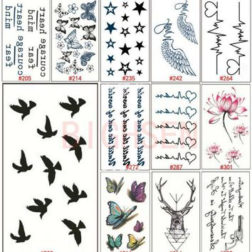 Tattoo Sticker 1 Sheet  3D Butterfly Waterproof Temporary