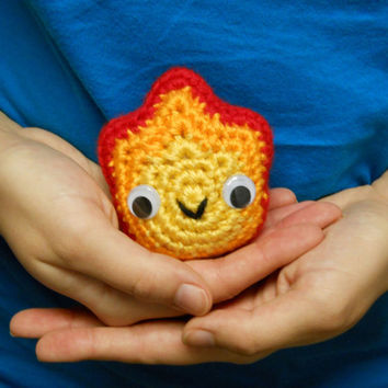 Calcifer - Made to Order - Crocheted Fan Plushie