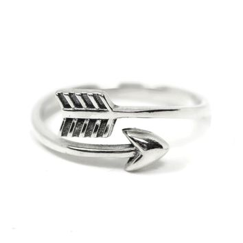Sterling Silver Arrow Wrap Ring
