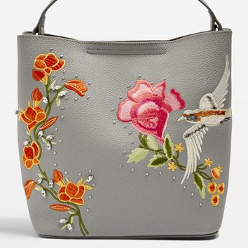 HOLLY Bird Embroidered Hobo Bag - Bags & Purses - Bags & Accessories