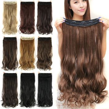 60cm Long Synthetic Clip In Hair Extension
