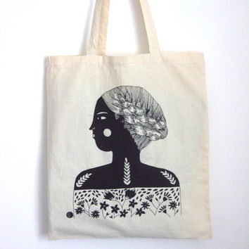 Small Illustrated Shopping Bag with Free UK Shipping