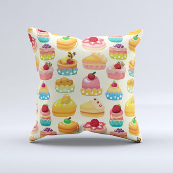 Sweet Treat Pattern ink-Fuzed Decorative Throw Pillow