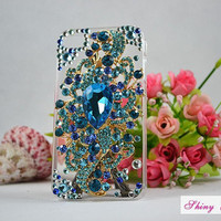 Christmas GiftiPhone 4 case unique blue crystal by ShinyGift