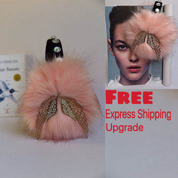 Embellished Peach earmuffs, beaded faux fur earmuffs, OOAK ear warmers, plush ear muffs, fluffy earmuffs, OOAK gift for Christmas